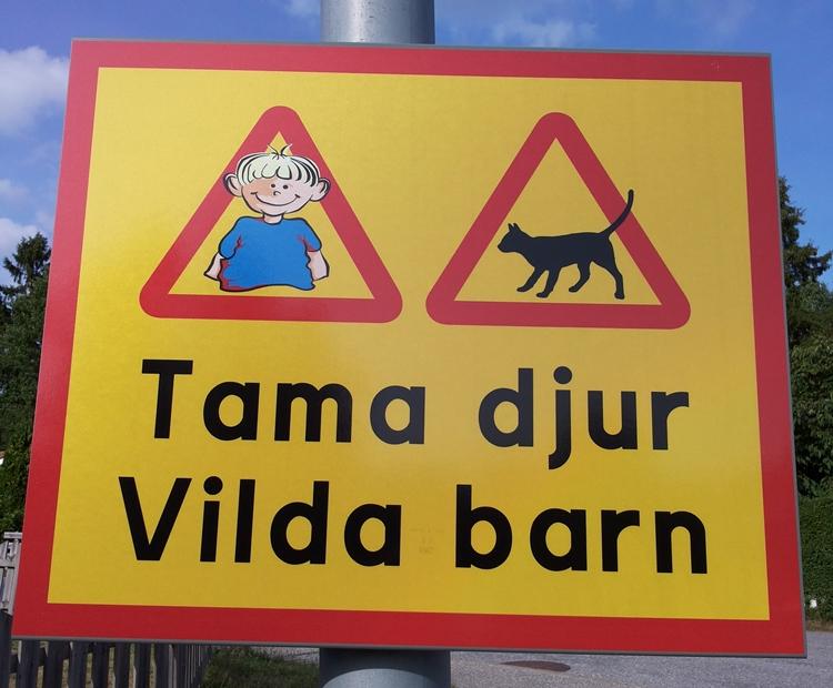 Tama djur Vilda barn